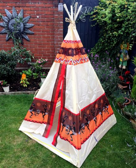 Wigwam Aztec Indian Design Children's Play Tent